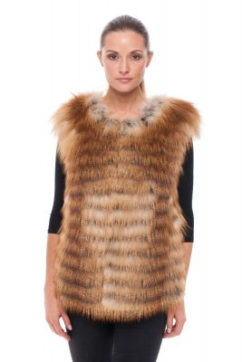 Vest of gold fox on silk