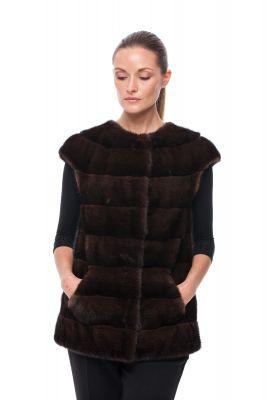 Vest of Brown mink