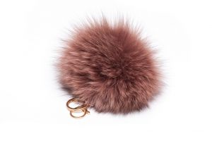 Pendant fox fur pompom