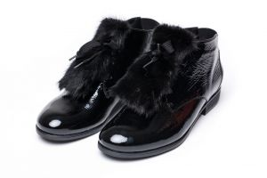 Shoe accessory  mink black