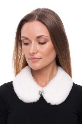 Mink fur collar