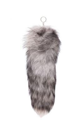 Pendant fox fur tail