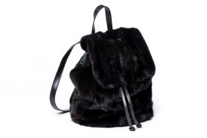 Backpack from mink fur (black)