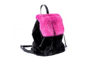 Backpack from mink fur