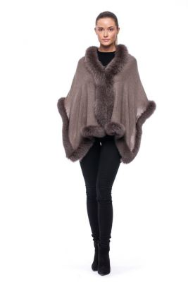 Cashmere scarf brown