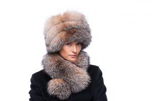 Tablet Hat fox golden Blue silver