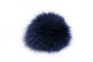 Fox fur pompom with metal clip