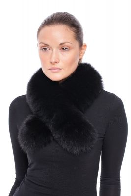 Cross scarf fox black