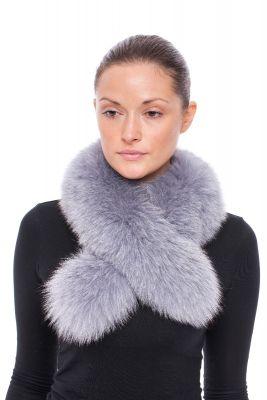 Cross scarf fox grey