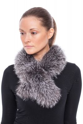 Cross scarf fox blue silver