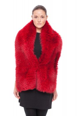 Perforated boa fox Red