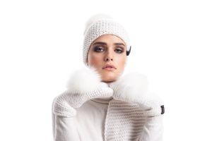 Woolen mittens (white)