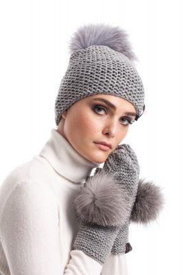 Woolen mittens (grey)