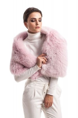 Perforated boa fox Pink