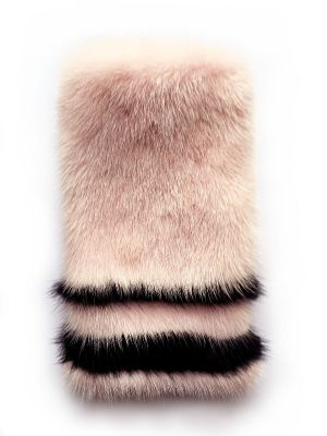 Phone case from mink fur