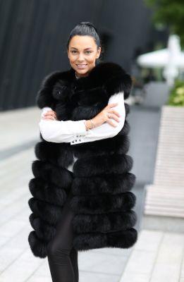 Long Vest of black fox