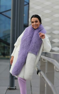 Perforated scarf fox fur (purple)